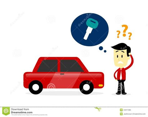i lost my only car key missing a car key stock vector image 44311385