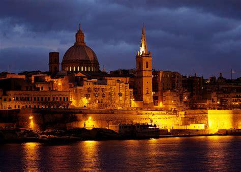 valletta malta beautiful city with baroque architecture