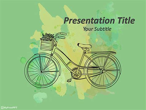 Free Transportation Powerpoint Templates Themes Ppt Bike Ppt Templates Free
