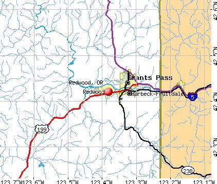 map of oregon redwoods redwood oregon or 97527 profile population maps real