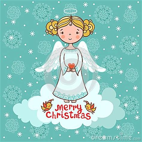 greeting card christmas card  angel royalty  stock photo image