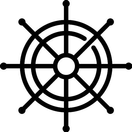 sailing boat steering wheel boat steering wheel free icons