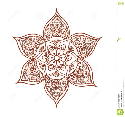 orient flower decorative arabian henna design mehendi