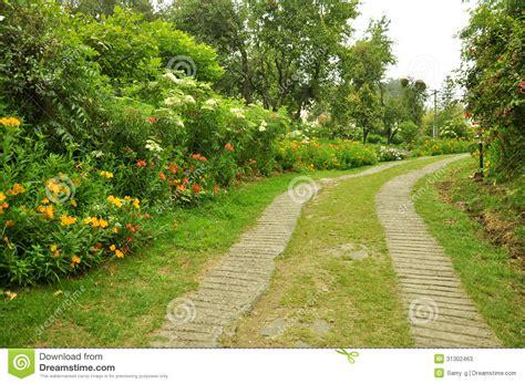 Garden Of Stock Nature Path With Garden Stock Photos Image 31302463