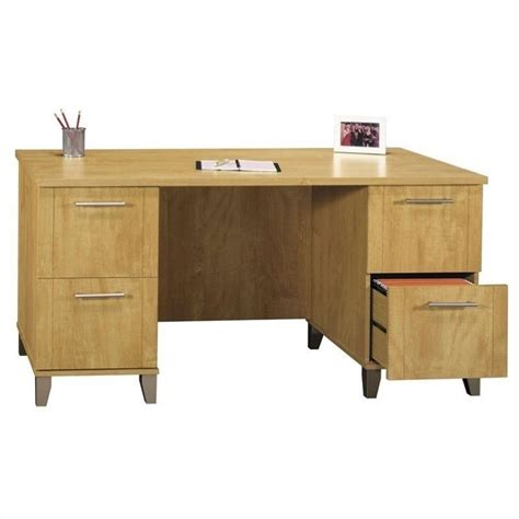 Bush Somerset Desk by Bush Somerset Collection 60 Quot Wood Desk In Maple Cross