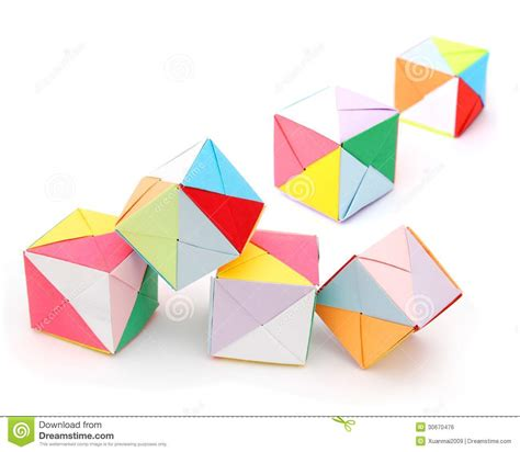 Origami Cake Box - origami cake boxes stock photo image of paper colorful