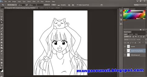 download video tutorial gambar anime cara membuat line art di adobe photoshop manga council