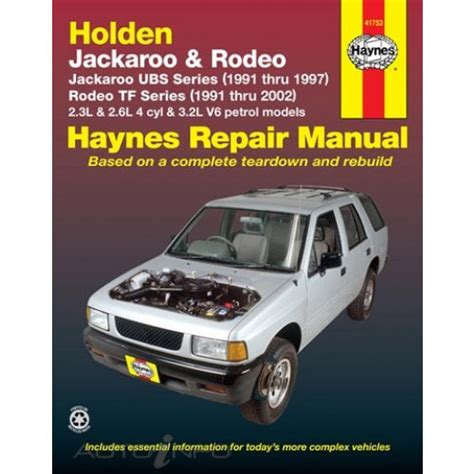 haynes manual holden jackaroo rodeo 1991 2002 41753