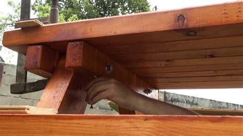 banc de picnic en bois cuisine bricolage table pique nique comment faire un banc