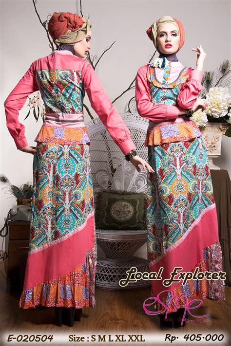 Tiara Tunik S E esme local explorer e 020504 baju muslim gamis modern