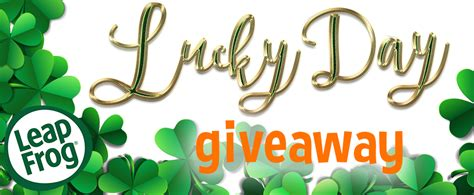 Lucky Shops Giveaway 2 by Leapfrog S Lucky Day Giveaway
