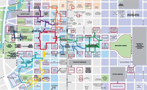 map of downtown houston texas take a tunnel walk houston