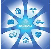 Insurance Services Glows Bright Blue Background — Stock