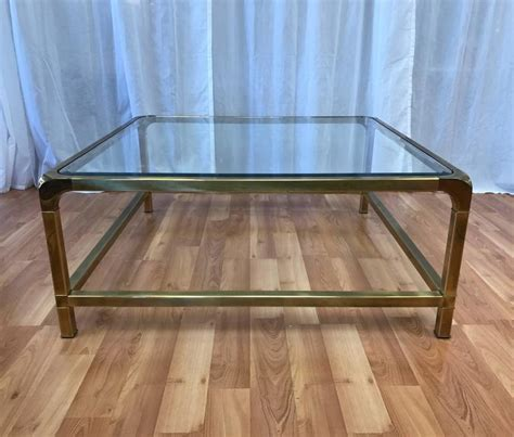 large glass coffee tables uk mastercraft large square brass and glass coffee