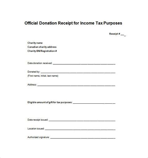 donation receipt template word tax donation receipt template receipt template doc for