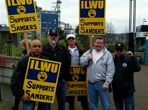 bernie sanders climate march solidarity rally april 29 2017 ilwu local 8 supporting bernie sanders at a rally on march