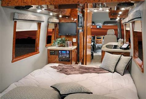 rv bedroom four winds ventura class b motorhome interior with bedroom