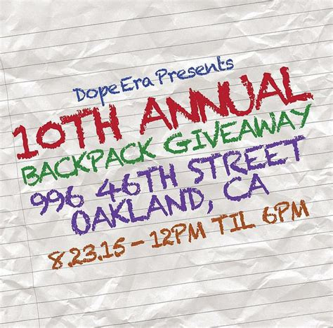 Oakland A S Backpack Giveaway - backpack giveaway benefiting hundreds of oakland school children goes beyond school