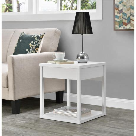 end tables with drawers canada parsons end table with drawer black walmart canada