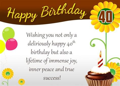 Happy 40th Birthday Card Template by Best 20 40th Birthday Messages Ideas On