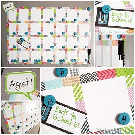 how to make a erase calendar from a picture frame make a white board magnetic calendar washi calendar