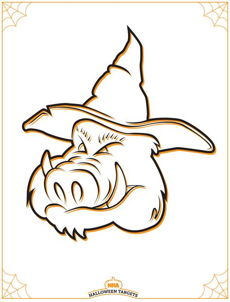 printable pig targets free halloween targets from the nra 171 daily bulletin