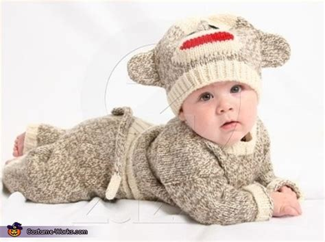 sock monkey costume for a baby photo 2 2