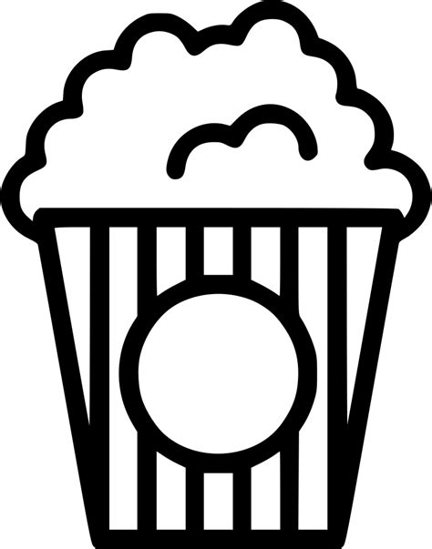 Popcorn Svg Png Icon Free Download (#445154