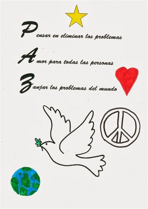acrostico con la palabra paz acrostico de cultura de paz pin pin acrosticos con el