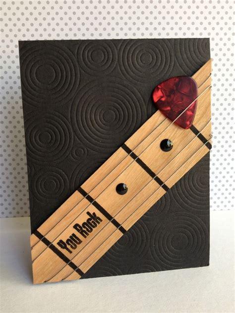 guitar cards cool idea sketch guitar card cards birthday cards
