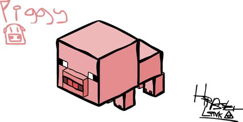 minecraft coloring pages baby pig minecraft baby pig by hipstermacsus on deviantart
