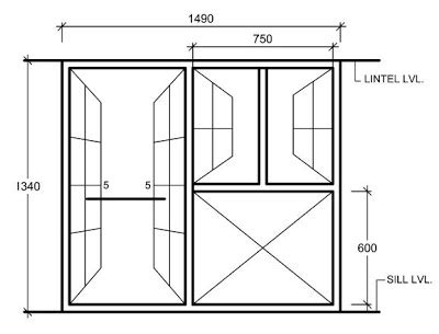 Kittdell Standard House Window Sizes