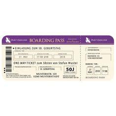 Muster Einladung Br Sitzung Einladungskarten Flugticket Geburtstag Ticket Einladung Karte Boarding Pass Blau