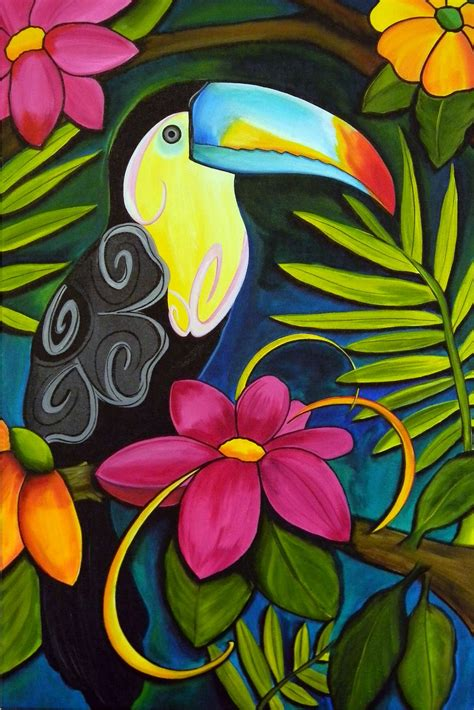 urban art by melody the tatooed toucan by melody smith