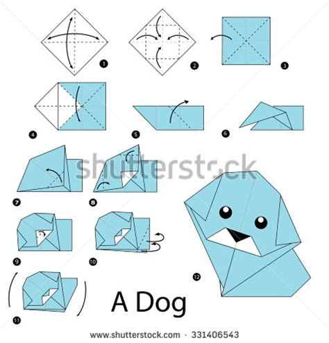 Learn Origami Step By Step - stock photos images pictures