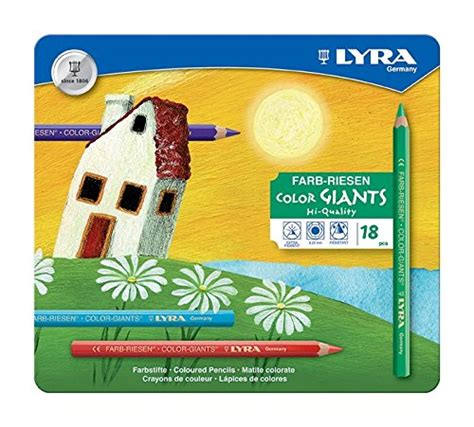 Lyra Ferby Lacquered Color Pencil 18 Colors 3721180 giants neon coloring pencils 6 3941063