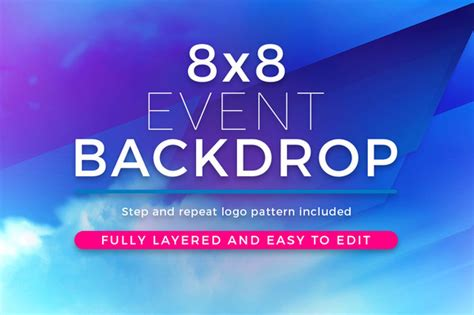 backdrop design size abstract 8x8 event backdrop template templates on