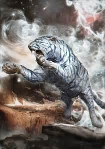Mountain Wall Murals white tiger by therafa on deviantart