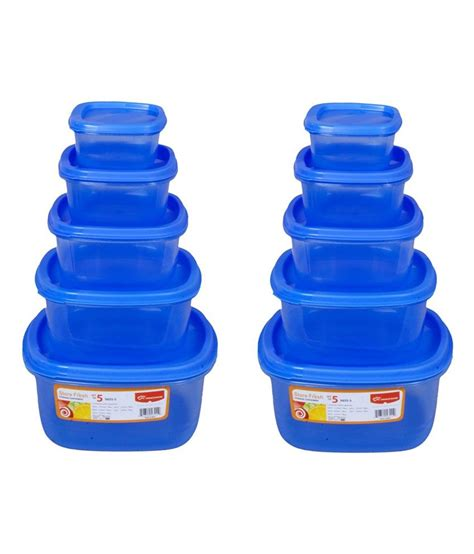 buy food storage containers princeware blue square food grade storage containers buy