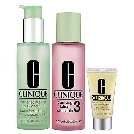 Clinique 3 Step 3 step skin care system for skin types 3 4 combination