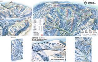 map mountain map powder mountain resort