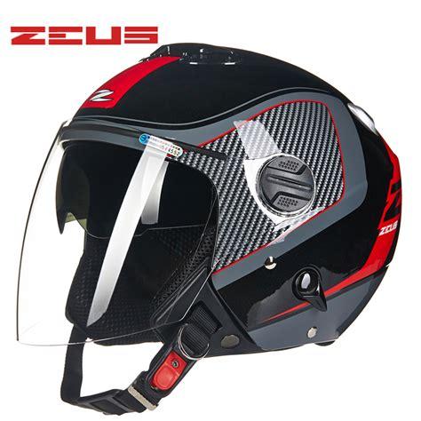 Helm Half Custom Xl zeus open 3 4 motorcycle helmet high quality dual lens chopper bike vintage half helmets m