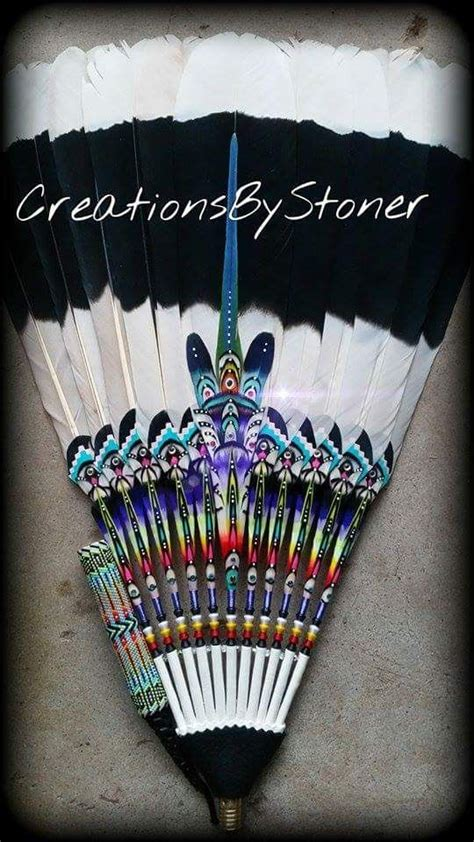 native american dance fans for sale 541 best images about peyote feather fans on pinterest