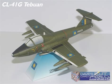 Papercraft Tutor - 1 33 scale cl41g tebuan jet paper model by dave winfield