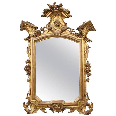 floor fullngth mirror for sale vintage white baroque italian baroque mirror in gilded carved wood 19th century