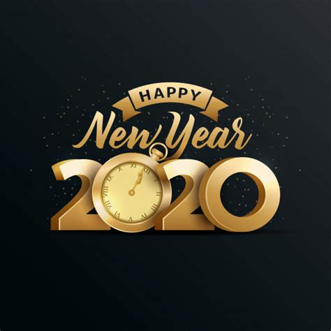 happy  year  elegant greeting card vector premium