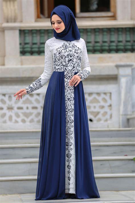 desain gaun muslim contoh gaun kebaya modern desain terbaru berkesan mewah