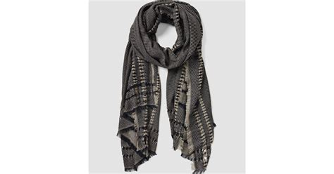 allsaints spine scarf usa usa in black lyst