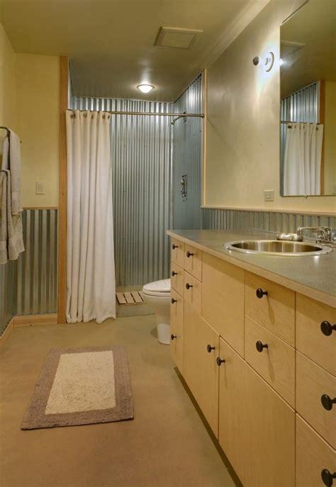 Corrugated Metal Bathroom by Corrugated Metal Shower Bathroom
