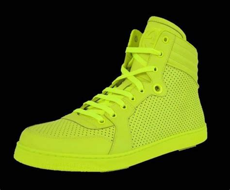 neon high top sneakers new gucci s 322730 neon yellow hi high top leather